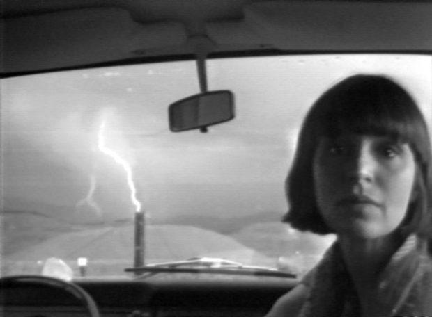 Still from Lightning (Paul Kos, 1976). Image courtesy of Video Data Bank.