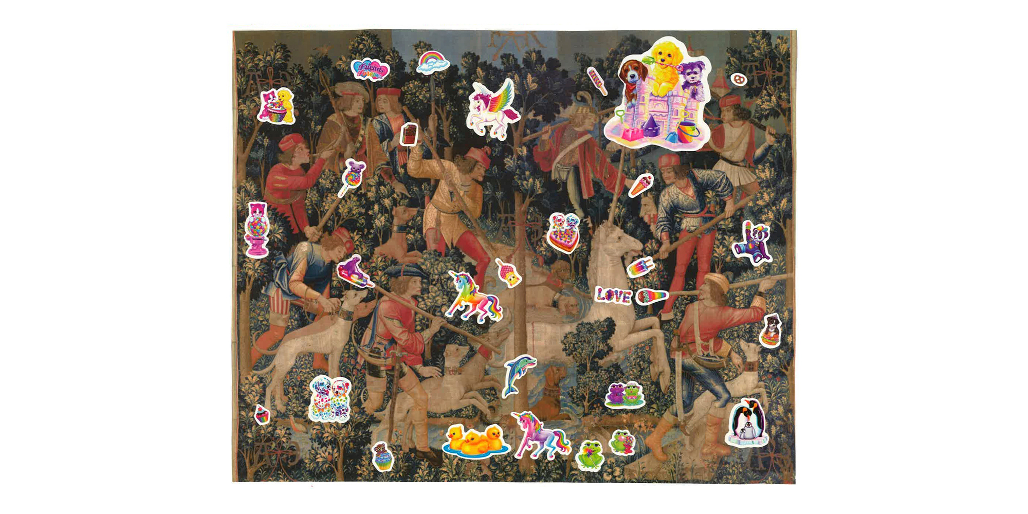Sage Mtahtah - The Unicorn is Attacked: A Sticker Collage Study