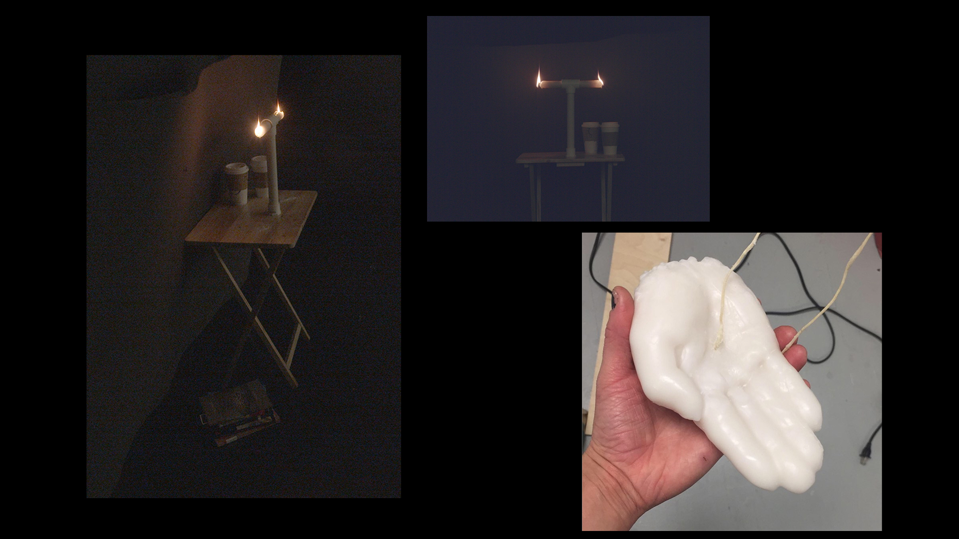Caitlin Jane Mattia - Candle Series selections: Burns at Both Ends; Stigmata Candle