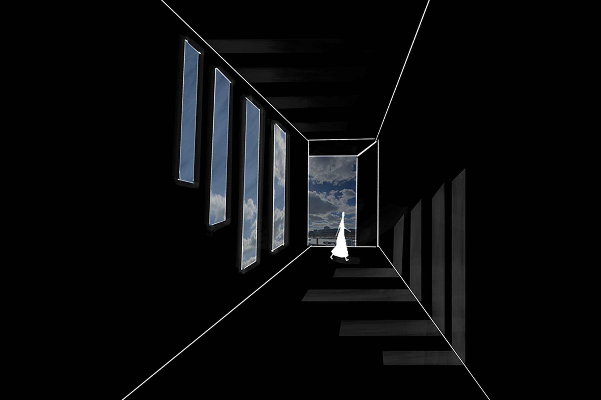 Yesha A. Mody - Phenomena 2, 2021, Digital Collage, 27 x 18 in.