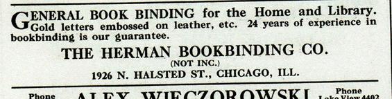 44. Herman Bookbindery 1926 N. Halsted St.