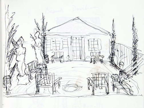 Brown's sketch for the garden at 1926 N. Halsted St. From his 1993-1997 sketchbook.