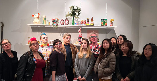 Guests! This semester we hosted: 54 SAIC classes, classes from other schools, several receptions and public tours, 30 SAIC student researchers, 14 independent researchers, and uncounted, stray, sneak peek guests. Peter Exley's Research Studio class