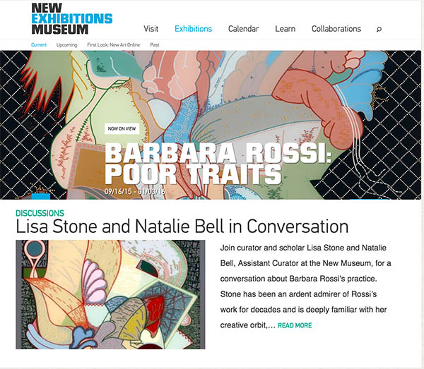We heartily congratulate RBSC steering committee member and Brown's dear friend (and ours!),  Barbara Rossi, on her outstanding exhibition  BARBARA ROSSI: POOR TRAITS at the New Museum, New York.