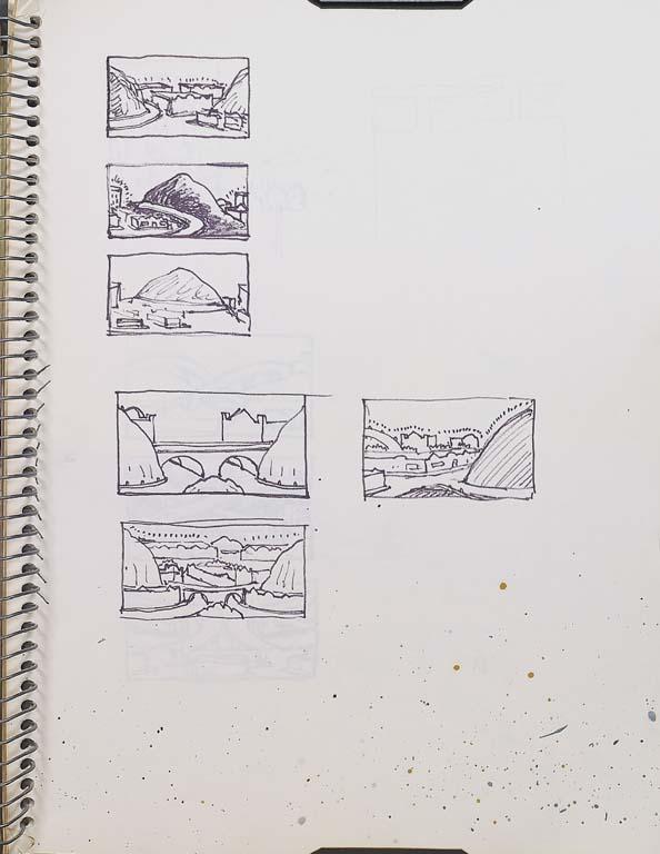 Page in Brown's 1968-1970 sketchbook