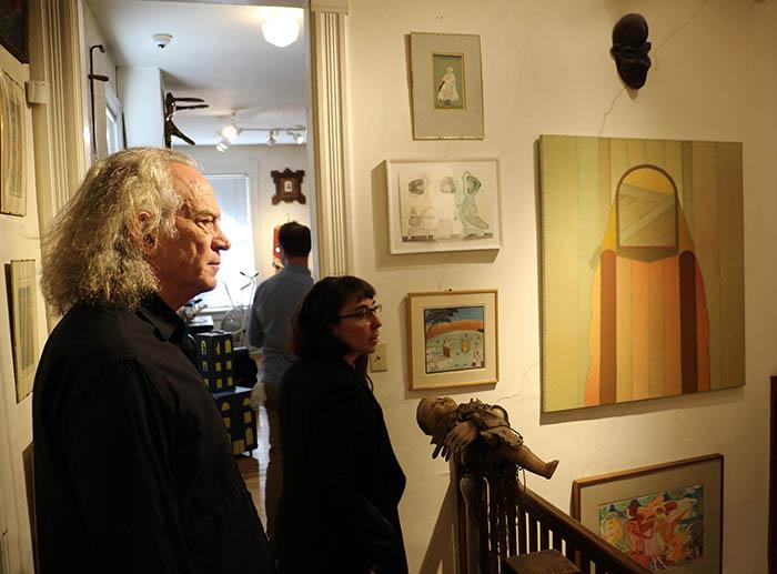 Artist Gary Panter observing